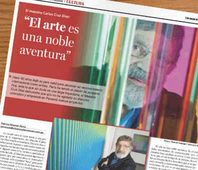 A collection of 'news and views' about Carlos Cruz-Diez
